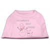 Mirage Pet Products Snowman's Best Friend Rhinestone Shirt Light Pink XXL (18)