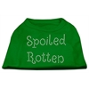 Mirage Pet Products Spoiled Rotten Rhinestone Shirts Emerald Green XXL (18)