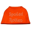 Mirage Pet Products Spoiled Rotten Rhinestone Shirts Orange XXL (18)