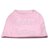 Mirage Pet Products Spoiled Rotten Rhinestone Shirts Light Pink XS (8)