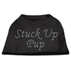 Mirage Pet Products Stuck Up Pup Rhinestone Shirts Black XXXL(20)