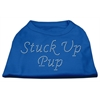 Mirage Pet Products Stuck Up Pup Rhinestone Shirts Blue Lg (14)