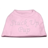 Mirage Pet Products Stuck Up Pup Rhinestone Shirts Light Pink XL (16)