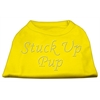Mirage Pet Products Stuck Up Pup Rhinestone Shirts Yellow XXL (18)