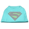 Mirage Pet Products Super! Rhinestone Shirts Aqua XXXL(20)