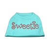 Mirage Pet Products Sweetie Rhinestone Shirts Aqua XXXL(20)