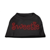 Mirage Pet Products Sweetie Rhinestone Shirts Black XXXL(20)