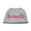 Mirage Pet Products Sweetie Rhinestone Shirts Grey XS (8)