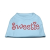 Mirage Pet Products Sweetie Rhinestone Shirts Baby Blue XXXL(20)