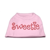Mirage Pet Products Sweetie Rhinestone Shirts Light Pink XXL (18)
