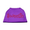 Mirage Pet Products Sweetie Rhinestone Shirts Purple XXXL(20)