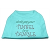 Mirage Pet Products Tinsel in a Tangle Rhinestone Dog Shirt Aqua XS (8)