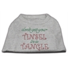 Mirage Pet Products Tinsel in a Tangle Rhinestone Dog Shirt Grey XXL (18)