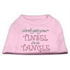 Mirage Pet Products Tinsel in a Tangle Rhinestone Dog Shirt Light Pink Med (12)