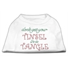 Mirage Pet Products Tinsel in a Tangle Rhinestone Dog Shirt White XXXL (20)
