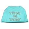 Mirage Pet Products Trick or Treat Rhinestone Shirts Aqua XXXL(20)