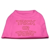Mirage Pet Products Trick or Treat Rhinestone Shirts Bright Pink XL (16)