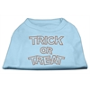Mirage Pet Products Trick or Treat Rhinestone Shirts Baby Blue XXXL(20)