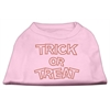 Mirage Pet Products Trick or Treat Rhinestone Shirts Light Pink XXL (18)