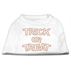 Mirage Pet Products Trick or Treat Rhinestone Shirts White XXXL(20)
