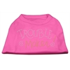 Mirage Pet Products Trouble Maker Rhinestone Shirts Bright Pink XXXL(20)