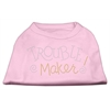 Mirage Pet Products Trouble Maker Rhinestone Shirts Light Pink XXXL(20)