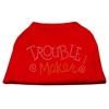 Mirage Pet Products Trouble Maker Rhinestone Shirts Red XXXL(20)