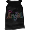 Mirage Pet Products Technicolor Angel Rhinestone Knit Pet Sweater Black XXL (18)