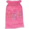 Mirage Pet Products Technicolor Angel Rhinestone Knit Pet Sweater Light Pink Med (12)