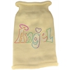 Mirage Pet Products Technicolor Angel Rhinestone Knit Pet Sweater Cream Lg (14)