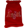 Mirage Pet Products Technicolor Angel Rhinestone Knit Pet Sweater Red XS (8)
