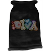 Mirage Pet Products Technicolor Diva Rhinestone Knit Pet Sweater Black XS (8)