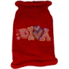 Mirage Pet Products Technicolor Diva Rhinestone Knit Pet Sweater Red Sm (10)