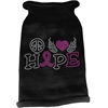 Mirage Pet Products Peace Love Hope  Rhinestone Knit Pet Sweater Black Med (12)