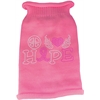 Mirage Pet Products Peace Love Hope  Rhinestone Knit Pet Sweater Light Pink Med (12)