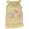 Mirage Pet Products Peace Love Hope  Rhinestone Knit Pet Sweater Cream Med (12)