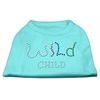 Mirage Pet Products Wild Child Rhinestone Shirts Aqua XXXL(20)