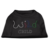 Mirage Pet Products Wild Child Rhinestone Shirts Black XS (8)