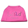 Mirage Pet Products Wild Child Rhinestone Shirts Bright Pink XXXL(20)