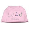 Mirage Pet Products Wild Child Rhinestone Shirts Light Pink XXXL(20)