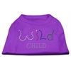 Mirage Pet Products Wild Child Rhinestone Shirts Purple XXXL(20)