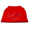 Mirage Pet Products Wild Child Rhinestone Shirts Red XXXL(20)