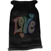 Mirage Pet Products Technicolor Love Rhinestone Knit Pet Sweater Black Med (12)