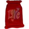 Mirage Pet Products Technicolor Love Rhinestone Knit Pet Sweater Red Med (12)