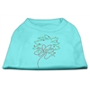 Mirage Pet Products Christmas Wreath Rhinestone Shirt Aqua XXXL(20)