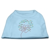 Mirage Pet Products Christmas Wreath Rhinestone Shirt Baby Blue XXXL(20)