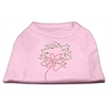 Mirage Pet Products Christmas Wreath Rhinestone Shirt Light Pink XXXL(20)
