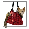Mirage Pet Products Red with Animal Foil RunAround Pet Carrier Tote