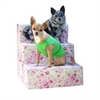 Mirage Pet Products Shabby Chic Corduroy Pet Steps