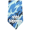 Mirage Pet Products Shed Happens Screen Print Bandana Blue Camo